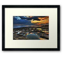 Sunrise On The Saltpans Framed Print