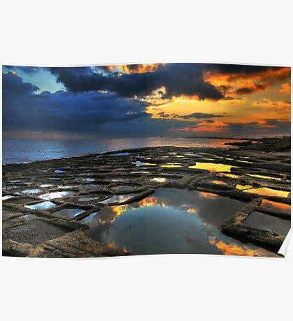Sunrise On The Saltpans Poster