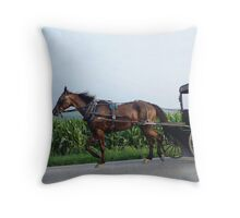 Saturday night in Amish Country Throw Pillow