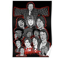 the warriors 35th anniversary character collage Poster