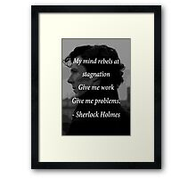 Sherlock Benedict Cumberbatch Quote Framed Print