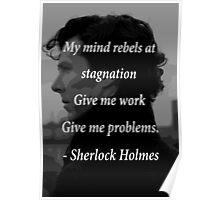 Sherlock Benedict Cumberbatch Quote Poster