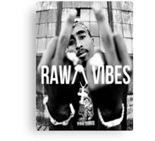 "2Pac ""Raw Vibes"" Canvas Print"
