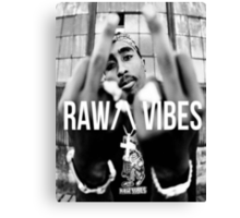 "2Pac ""Raw Vibes"" Canvas Print"