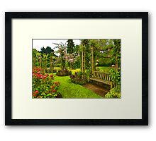 Impressions of London - Queen Mary's Rose Garden Framed Print