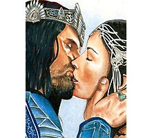 ARWEN & ARAGORN KISS LORD OF THE RINGS Photographic Print