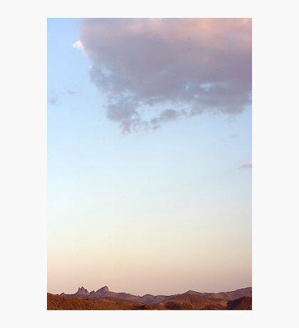Castle Peaks sunset Photographic Print