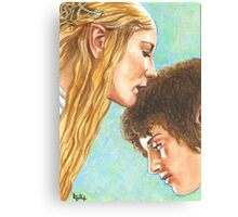 GALADRIEL KISSES FRODO Canvas Print