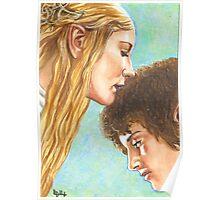 GALADRIEL KISSES FRODO Poster