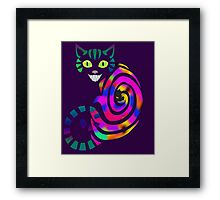 We're all mad here - Cheshire cat Framed Print