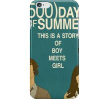 (500) Days of Summer: Thoughts.  iPhone Case/Skin