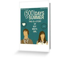 (500) Days of Summer: Thoughts.  Greeting Card