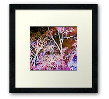Season's Change: Abstract with Creepy Tree II  Framed Print