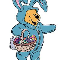 Winnie the Pooh as the Easter Bunny by BelovedxCisque