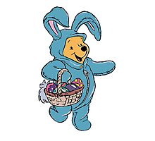 Winnie the Pooh as the Easter Bunny Photographic Print