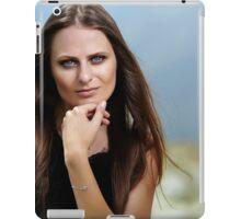 Beautiful woman in a mountain landscape iPad Case/Skin