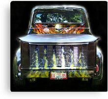 Flaming Hot 1956 Ford Truck Canvas Print
