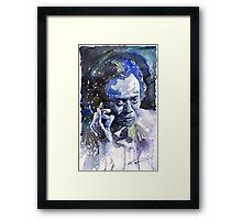 Jazz Miles Davis 11 Blue Framed Print
