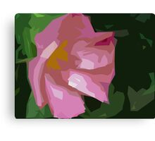 Dog Rose in art Canvas Print