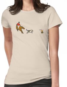 die brush!!! Womens Fitted T-Shirt
