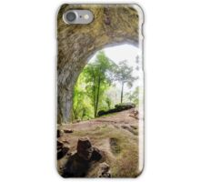 Inside view from Meziad cave in Apuseni mountains iPhone Case/Skin