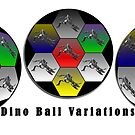 Dino Ball Triplet by Keith Richardson