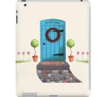 Welcome Blue Door and Stone Pathway iPad Case/Skin