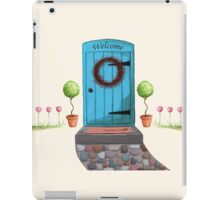 Welcome Blue Door and Stone Pathway iPad Case/Skin