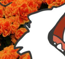 Flower Fox Design Sticker