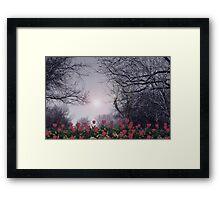 TULIPS GROW Framed Print