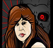 Sarah Connor and T-800 by Oziroan