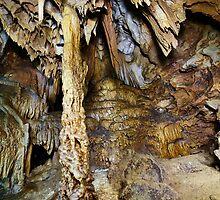 Closeup of stalactites and stalagmites by naturalis