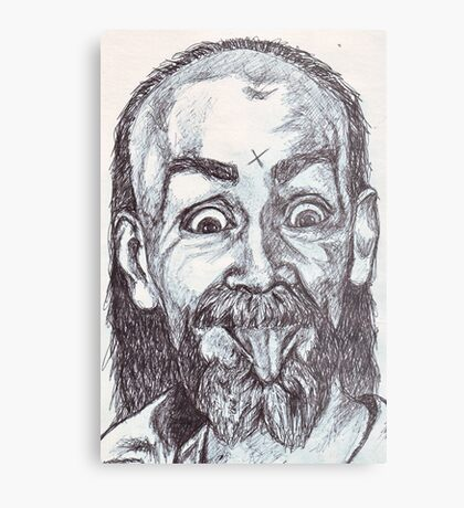 Charlie Manson Drawing Metal Print