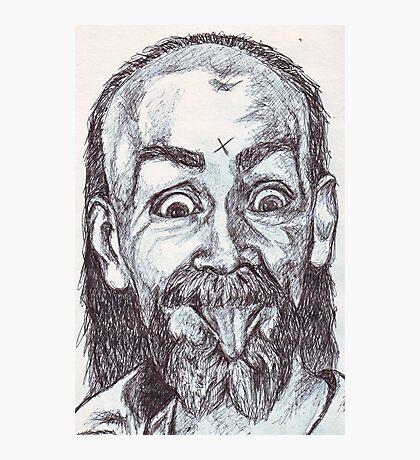 Charlie Manson Drawing Photographic Print