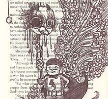 Super Kid holding a Chicken Head by stefaniecox