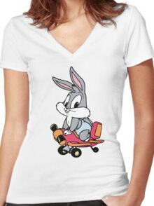 Baby Bugs Bunny Women's Fitted V-Neck T-Shirt