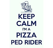 Pizza ped rider Photographic Print