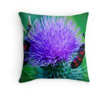 Narrow-bordered Five-spot Burnet Throw Pillow