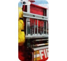 Long Ladder on Fire Truck  iPhone Case/Skin
