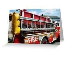 Long Ladder on Fire Truck  Greeting Card