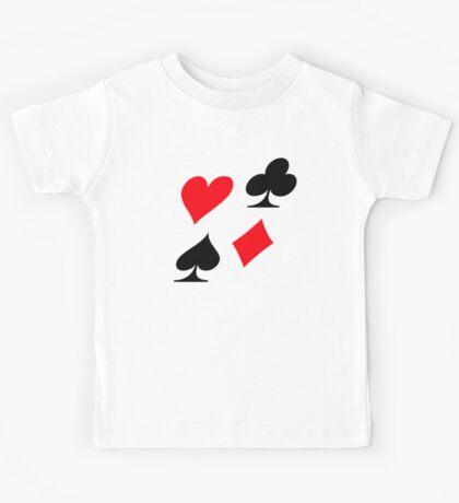 Poker card deck colors Kids Tee