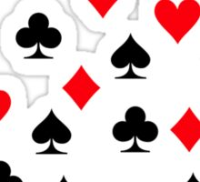 Poker heart spade diamond club Sticker