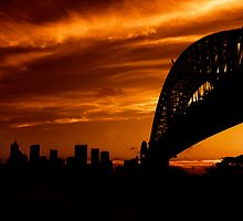Sydney Sunset 1 by David Mapletoft