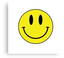 Smiley Face T Shirt Canvas Print