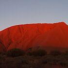 Ayers Rock/Uluru at Sunset by Zaven Jordan