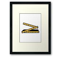 Folding rule yard stick Framed Print