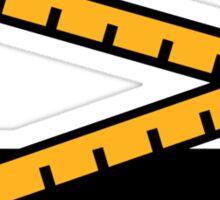 Folding rule yard stick Sticker