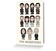 The Musketeers cast (print or card) Greeting Card