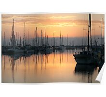 Manly Boat Harbour Sunrise Poster