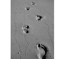 Footprints & Photographs Photographic Print